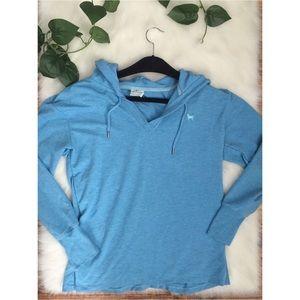 The Black Dog Hoodie Sweatshirt Aqua Blue